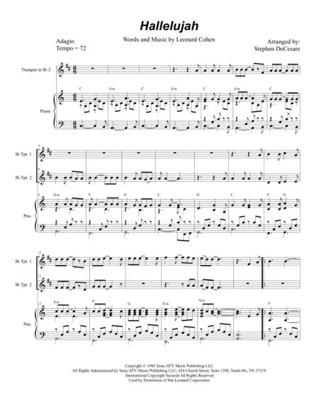 Hallelujah (Duet for Bb-Trumpet)