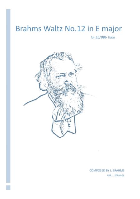 Brahms Waltz No.12 in E Major for unaccompanied Tuba
