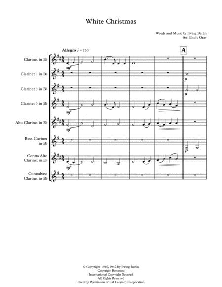 White Christmas (Clarinet Choir)
