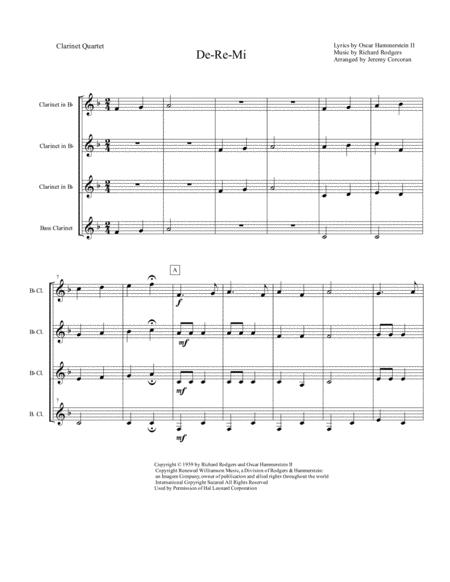 Do-Re-Mi for Clarinet Quartet
