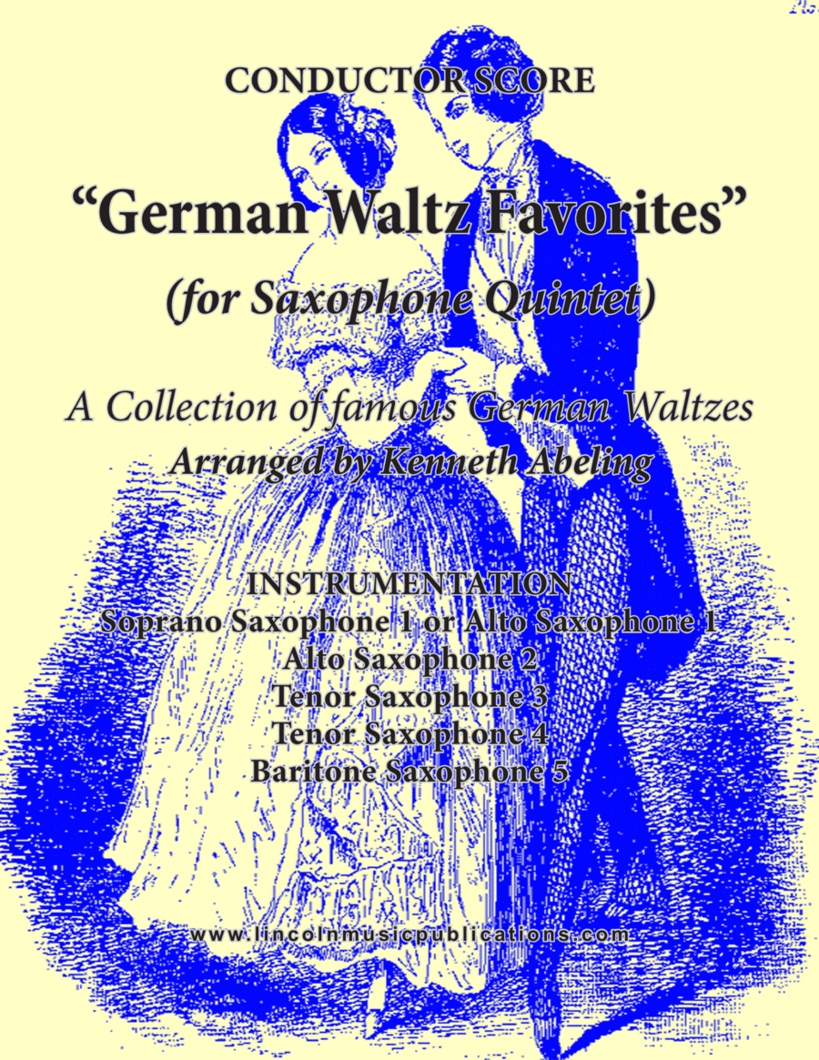 German Waltz Favorites (for Saxophone Quintet SATTB or AATTB)