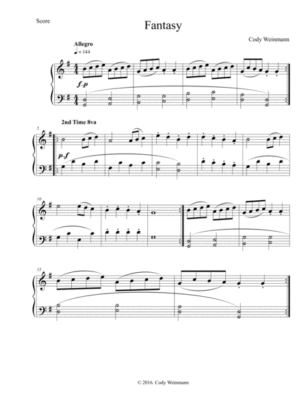 Fantasy for Luca (solo piano)