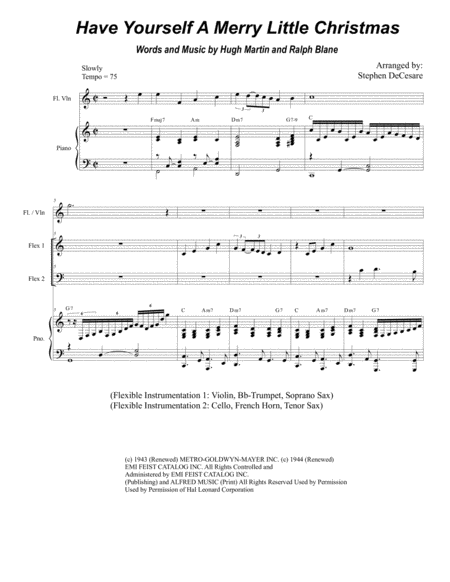 Have Yourself A Merry Little Christmas (for Flexible Instrumentation)