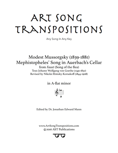 Song of the flea (A-flat minor)