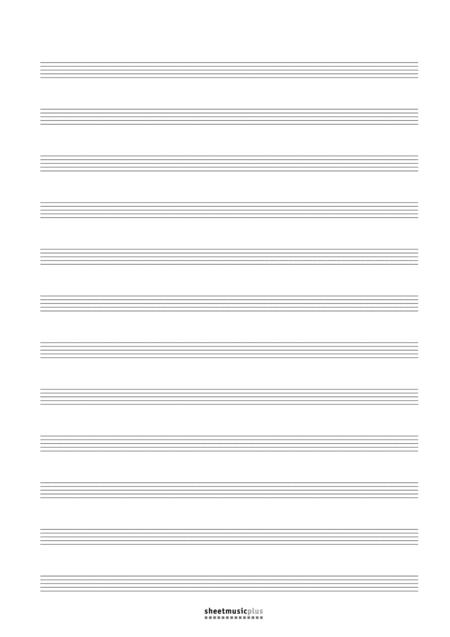 12-Staff Manuscript Paper (Blank)