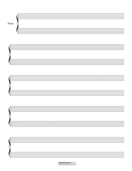 Grand Staff Manuscript Paper (Blank)