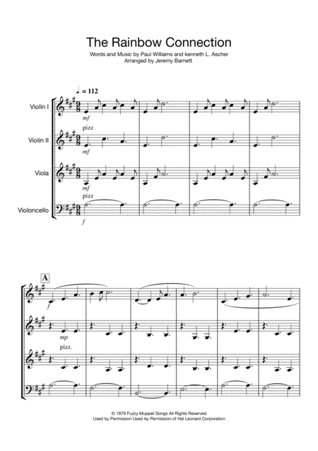 The Rainbow Connection (String Quartet/Trio)
