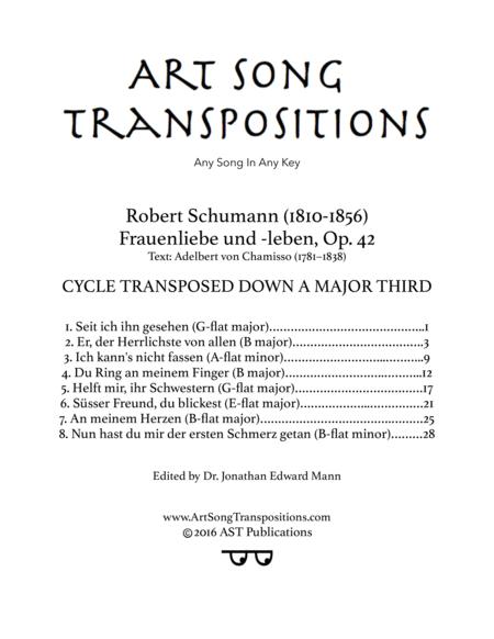 Frauenliebe und -leben, Op. 42 (Transposed down a major third)