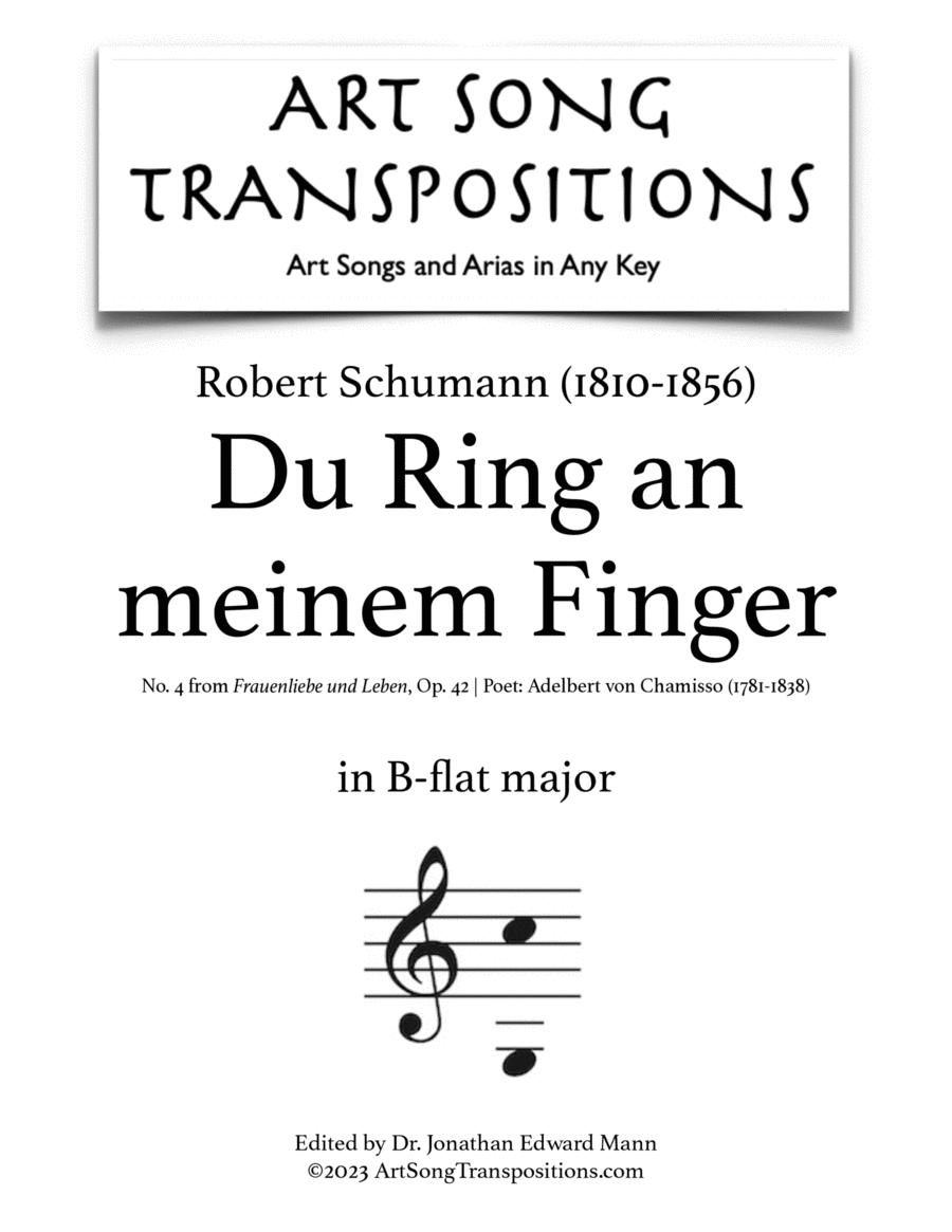 Du Ring an meinem Finger, Op. 42 no. 4 (B major)