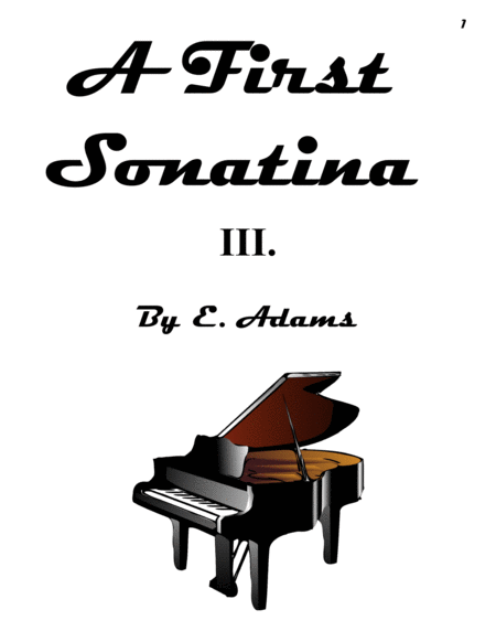 A First Sonatina - 3rd Movement