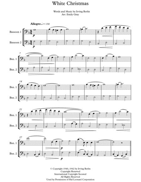 White Christmas (Bassoon Duet)