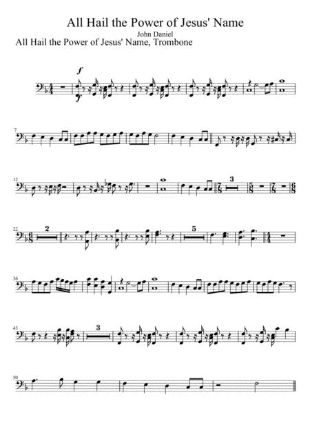All Hail the Power of Jesus' Name, Trombone