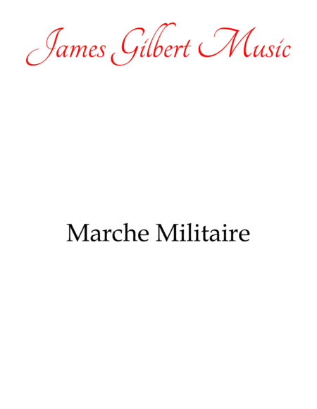 March Militaire (Military March)