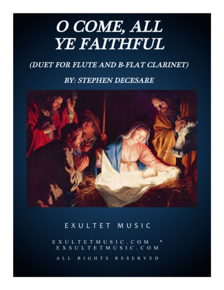 O Come, All Ye Faithful (Duet for Flute and Bb-Clarinet)