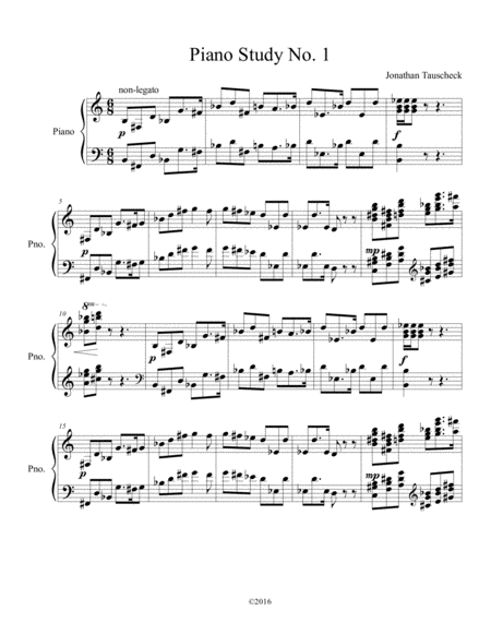 Piano Study No. 1