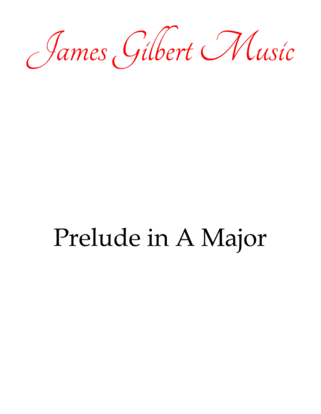 Prelude In A Major