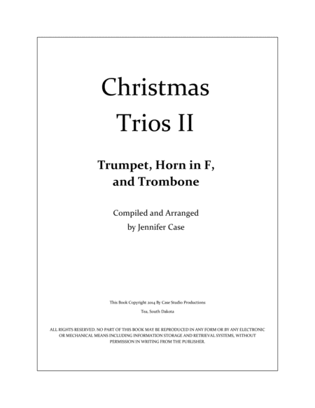 Christmas Trios II - Trumpet, Horn in F, and Trombone