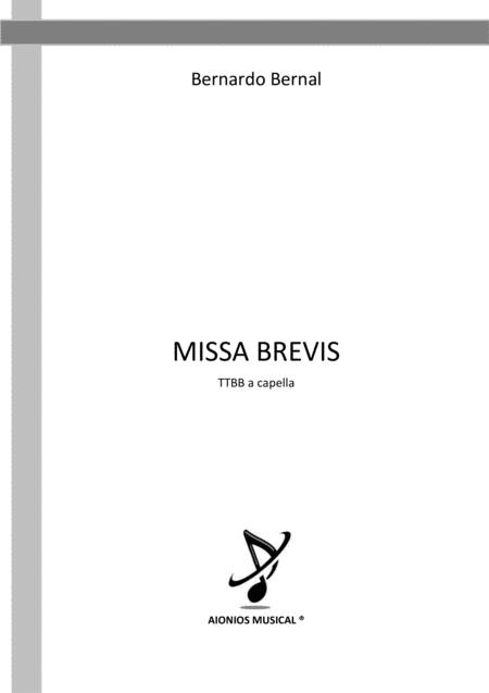 Missa Brevis - TTBB a capella