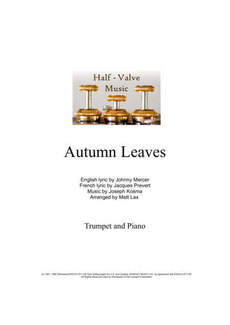 Autumn Leaves (Trumpet and Piano)