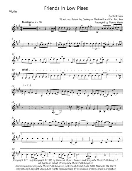 Friends In Low Places - String Trio (vln, vla, c)