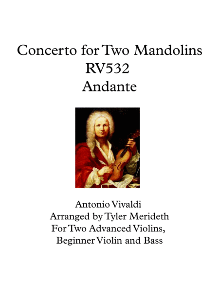 Concerto for Two Mandolins RV532 Andante