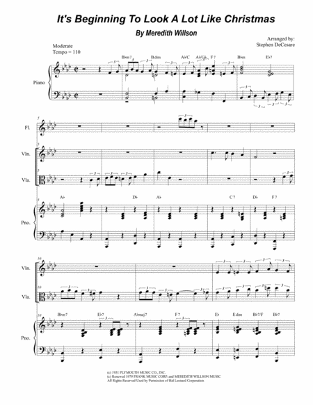 It's Beginning To Look Like Christmas (Duet for Violin and Viola)