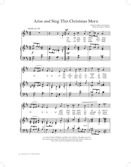 Arise and Sing This Christmas Morn