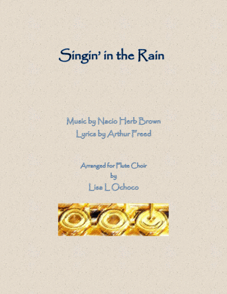 Singin' In The Rain for Flute Choir