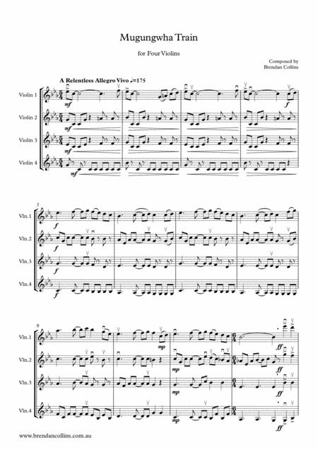 Mugungwha Train for Four Violins