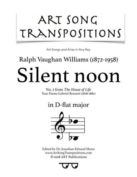 Silent noon (D-flat major)