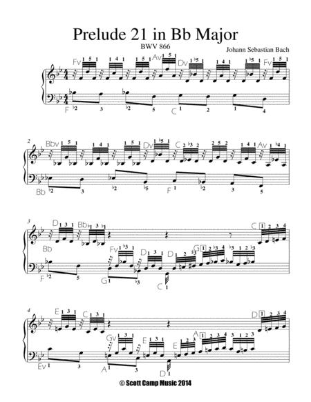 Prelude 21 in Bb, BWV 866