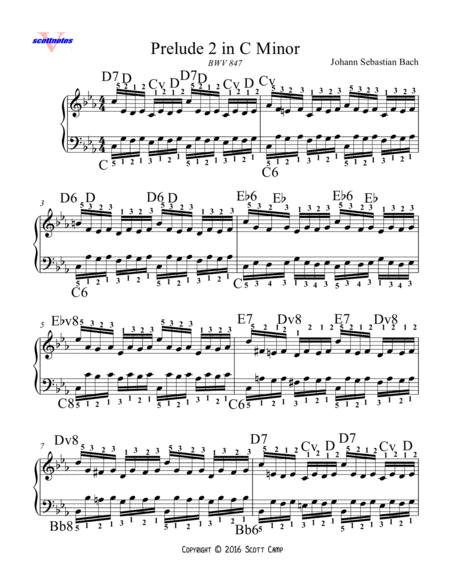 Prelude 2 in C minor BWV 847