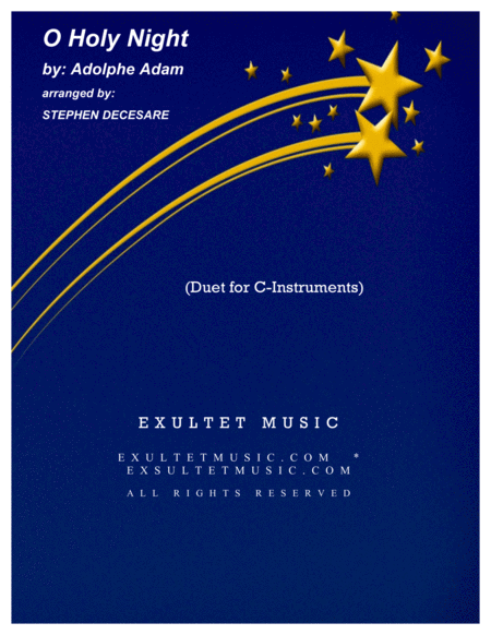 O Holy Night (Duet for C-Instruments)