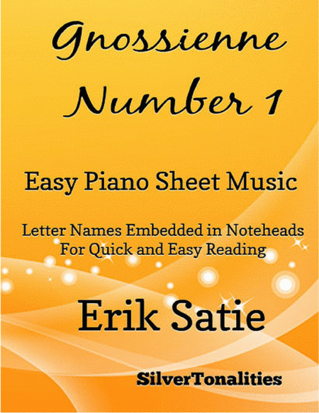 Gnoissienne Number 1 Easy Piano Sheet Music