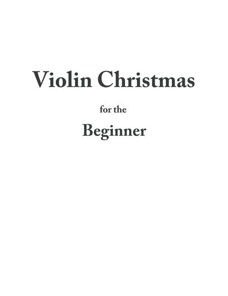 Violin Christmas for the Beginner