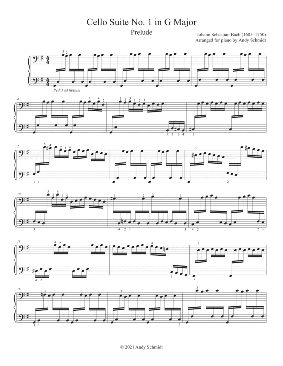 Bach Cello Suite No. 1 in G Major