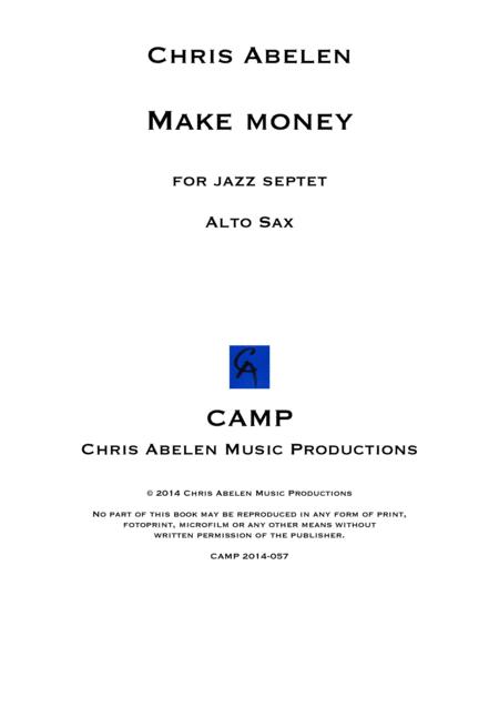 Make money - alto saxophone