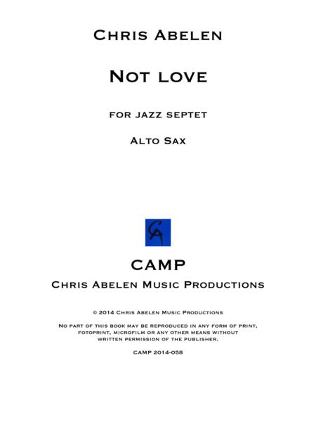 Not love - alto saxophone
