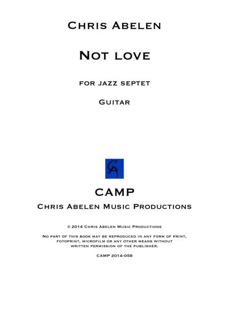 Not love - guitar