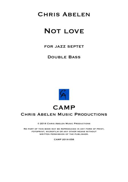 Not love - double bass