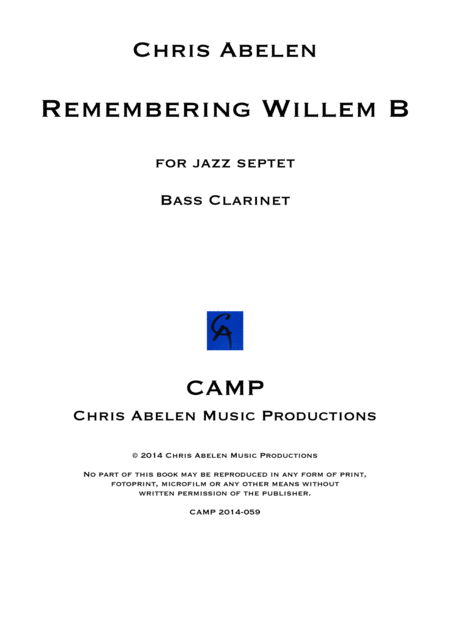 Remembering Willem B - bass clarinet
