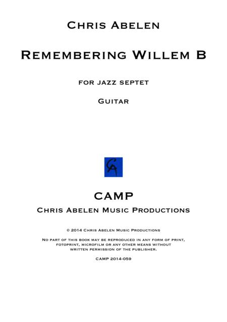 Remembering Willem B - guitar