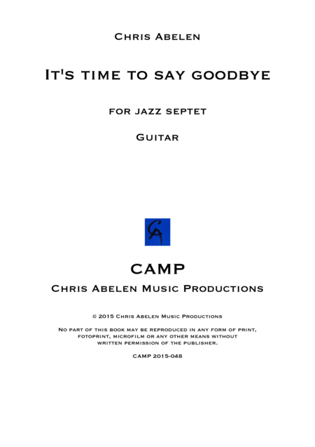 It's time to say goodbye - guitar