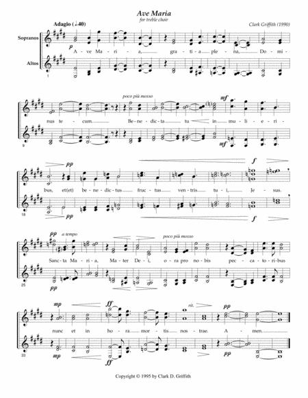 Ave Maria for treble chorus