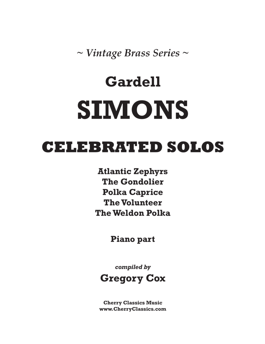 Celebrated Solos for Trombone or Euphonium and Piano
