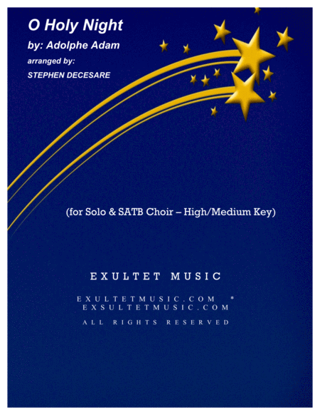 O Holy Night (for Solo & SATB - High/Medium Key)