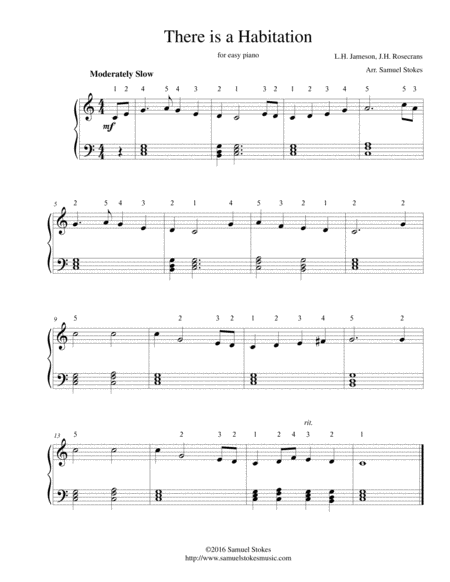 There is a Habitation - for easy piano