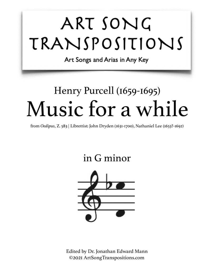 Music for a while (G minor)