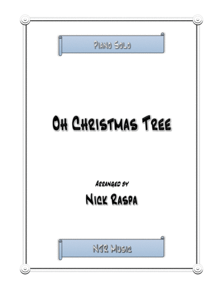 Oh Christmas Tree (jazz piano)