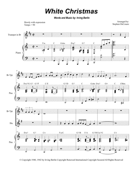 White Christmas (Duet for Bb-Trumpet and French Horn)